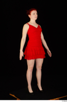 Vanessa Shelby red dress standing whole body 0002.jpg